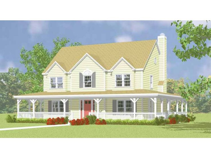 eplans farmhouse house plan two story country home 2295 square feet and 4