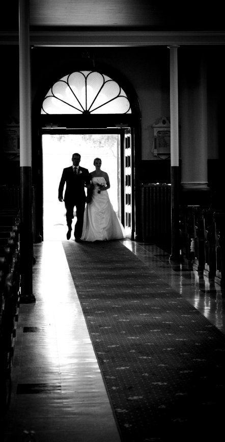 mariage à l'église de Bedford