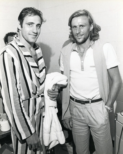 Another day, another celeb in the Cosmos dressing room: Borg meets Chinaglia