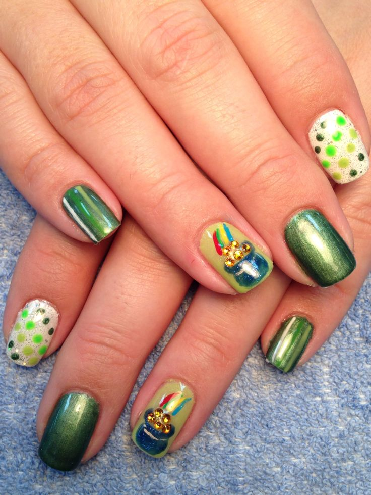 56 best St Patrick\'s Nails images on Pinterest | Belle nails, Nail ...