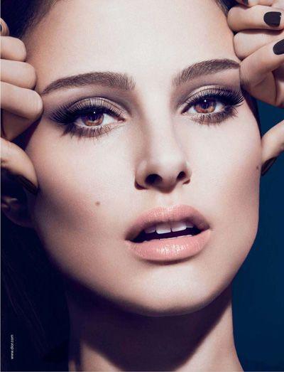 Natalie Portman for Dior.  Her makeup looks amazing