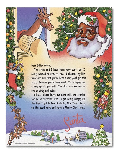 Personalized+African-American+Santa+Letter+-+%23Christmas+%23ideas