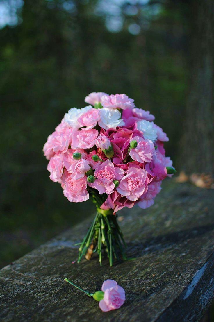 #wedding #bouquet #pink #dianthus #hydrangea
