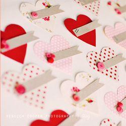 Simple handmade Valentines.