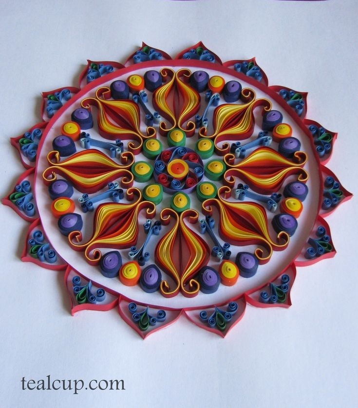 Tealcup quilling gallery mandala 1 quilling for Quilling strips designs