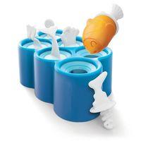 6 Holte Mini Vis Ontwerp Ice Pop Mold Set Ice Maker voor Keuken Huishouden