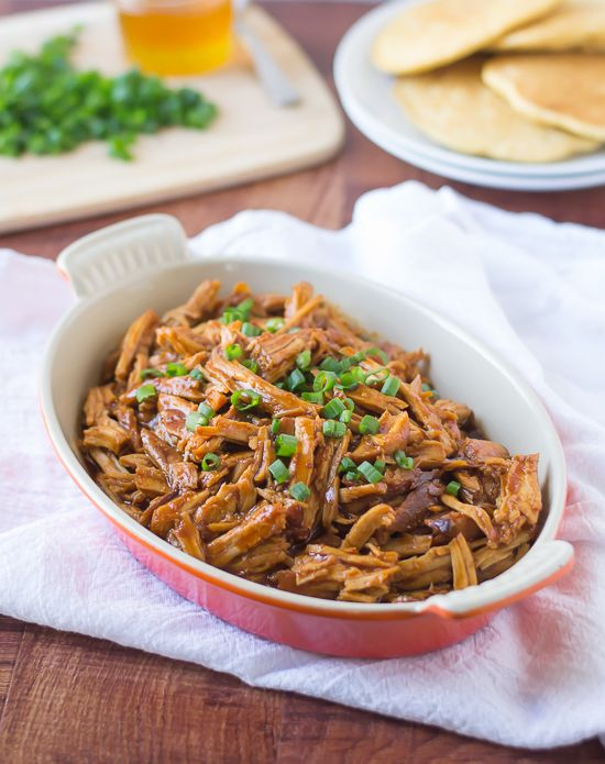 Slow Cooker Honey Pulled Pork - Easy and melts in your mouth!