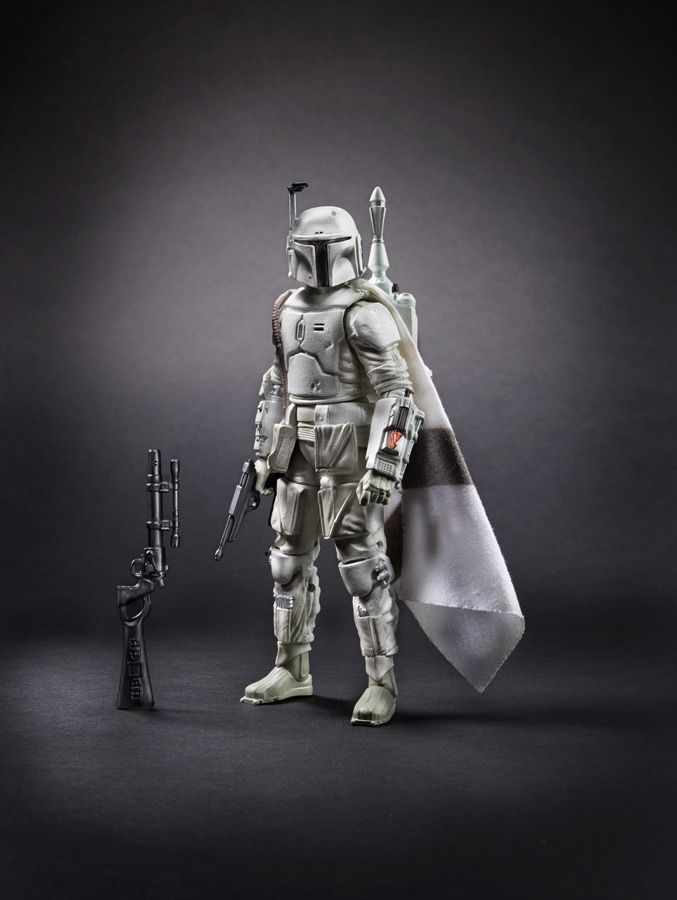 White prototype Boba Fett action figure