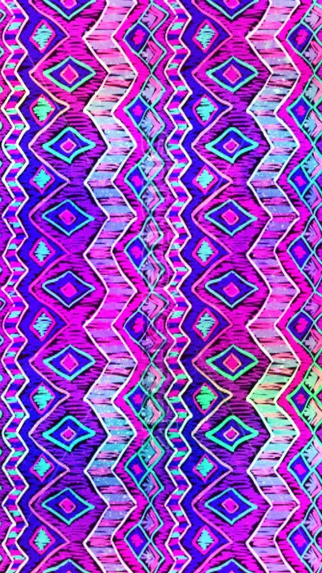 Cool Colorful Wallpapers Similar To Iphone X Neon Aztec Pattern Made By Me Colorful Patterns Aztec