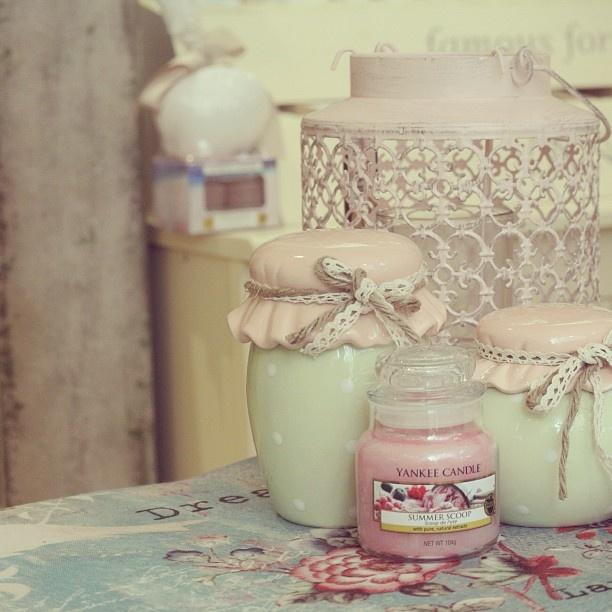 barattoli e candela yankee candle