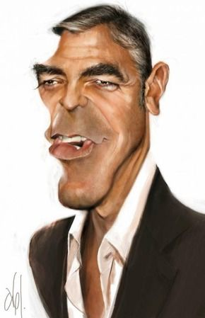 George Clooney- an illustration of Abj-Crayon