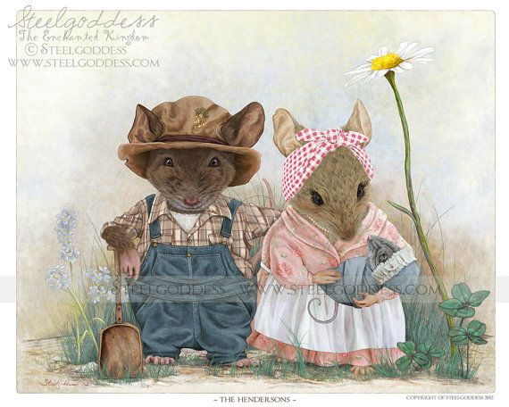 The Hendersons WALL PRINT 10x8 by steelgoddess on Etsy, $16.00