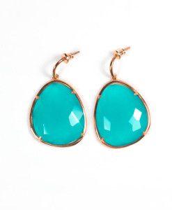 Oorbellen facet geslepen aqua groen chalcedoon 220,00   MPM Jewelry by Pilar Montes #blauw #green #greenjewellery #greenjewels #sieraden #oorbellen