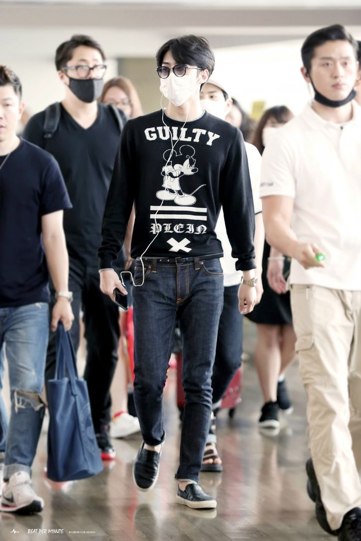 150619 Exo Oh Sehun Incheon Airport To Bangkok Airport Exok Fashion Style Kpop He