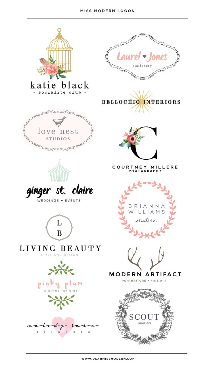 Miss Modern Shop Logos  - Love Nest - Palm