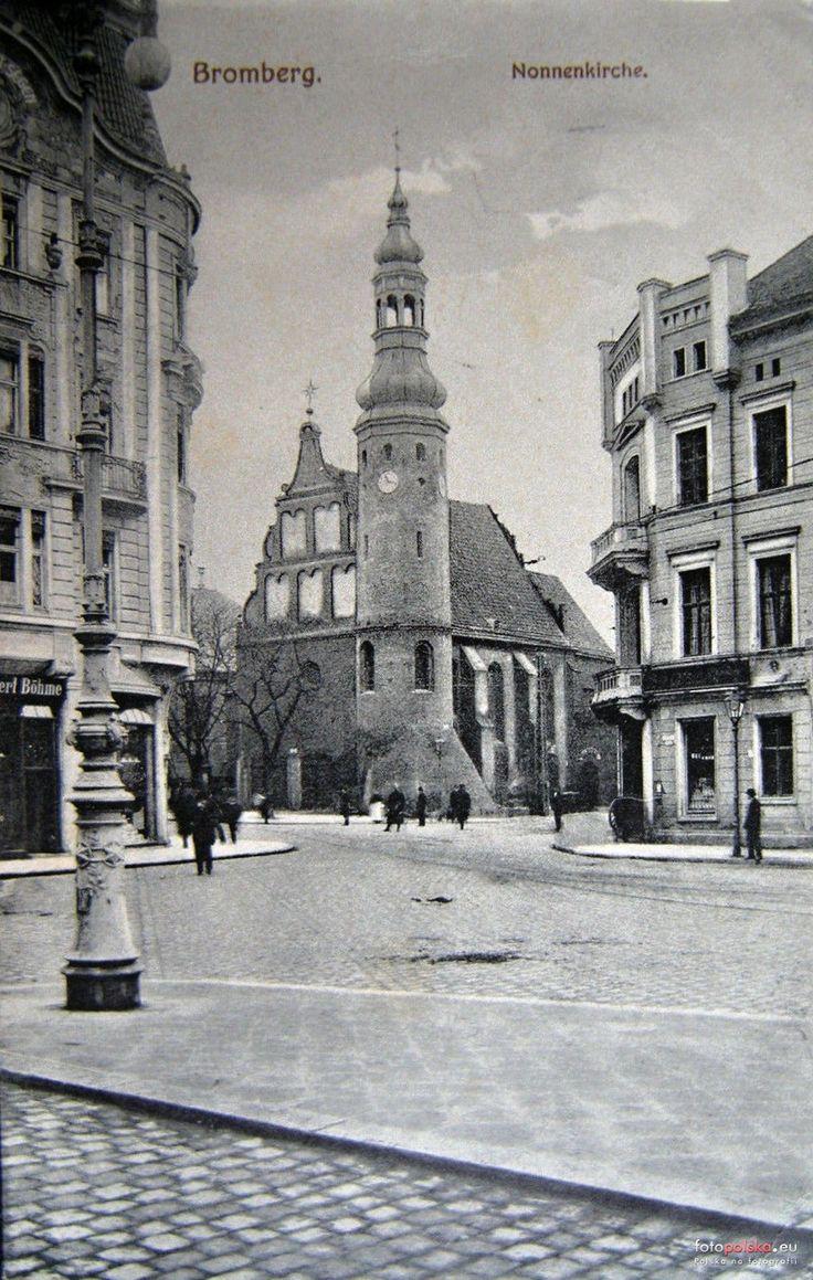 Kościół  Wniebowzięcia Najświętszej Maryi Panny (kościół klarysek)  (Nonnenkirche), Bydgoszcz - 1907 rok, stare zdjęcia