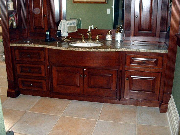 Beautiful Cherry Wood Bathroom Vanity Part 35
