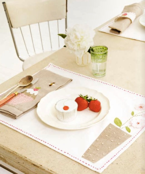 adorable place mats and napkins [especially the napkins]
