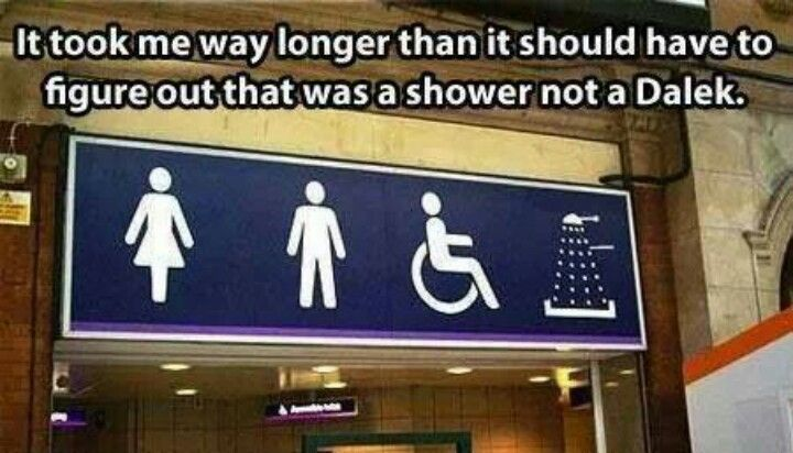 The shower symbol looks like a dalek