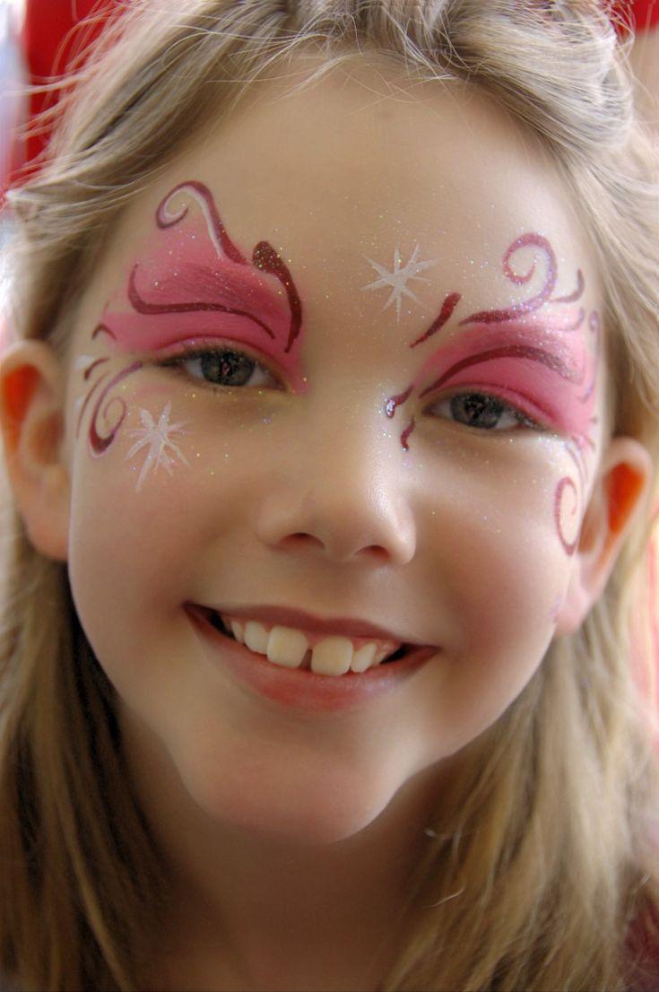 Pink Fairy Swirls Face Painting | Party Stuff | Pinterest