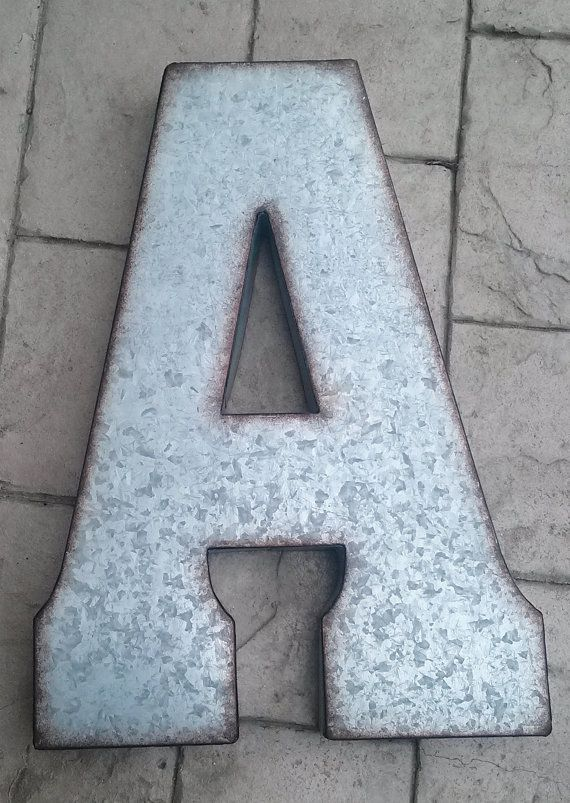 20 Inch Galvanized Metal Letters Best 25 Large Metal Letters Ideas On Pinterest  Metal Letters