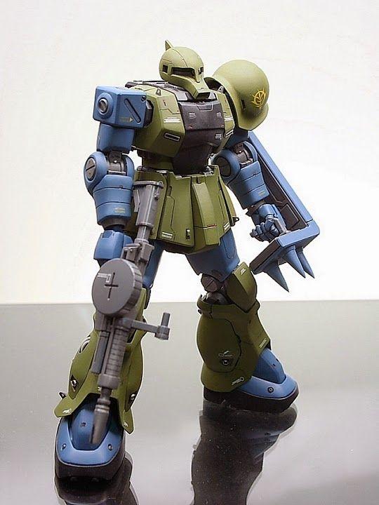 "Custom Build: HGUC 1/144 MS-05B Zaku I ""Detailed"" - Gundam Kits Collection News and Reviews"