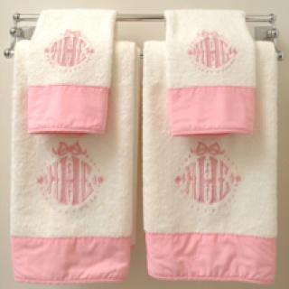 Monogram towels for bath