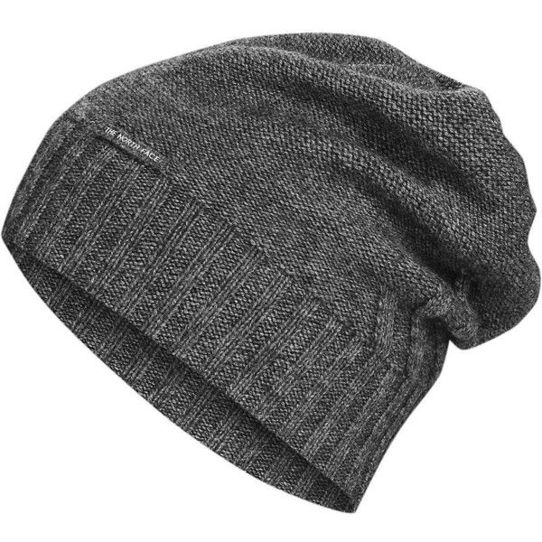 The North Face Women's Classic Wool Beanie ($50) ❤ liked on Polyvore featuring accessories, hats, tnf medium grey heather, slouch beanie, gray hat, slouchy beanie, gray beanie hat and slouch beanie hats