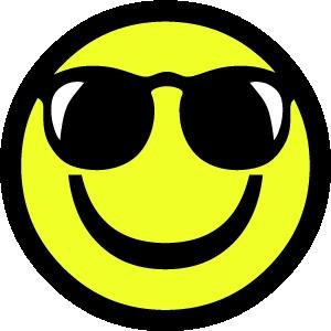 smiley 1 cool FC sticker