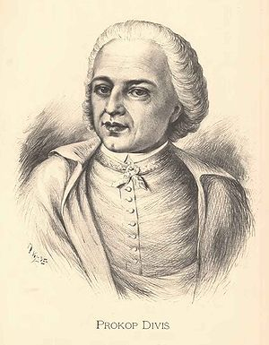 Prokop Diviš (1698) - canon regular, theologian and natural scientist, who invented the first grounded lightning rod.  #Czechia