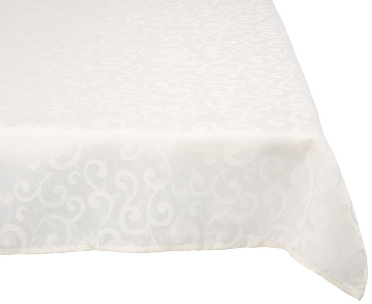 Poly Damask Round Tablecloth