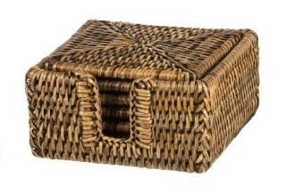 Set of Square Rattan Coasters - Lifestyle Home and Living