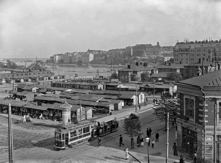 Hakaniemen tori Helsingin kaupunginmuseo Signe Brander 1913.
