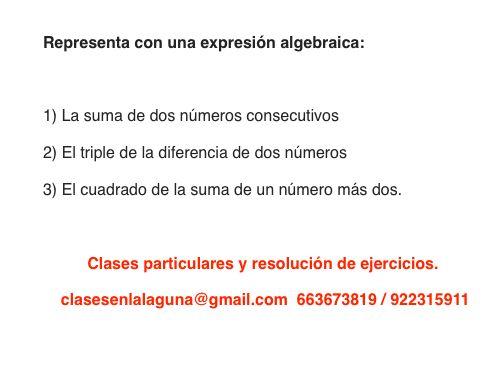 Ejercicio propuesto 7 de Expresiones Algebraicas.