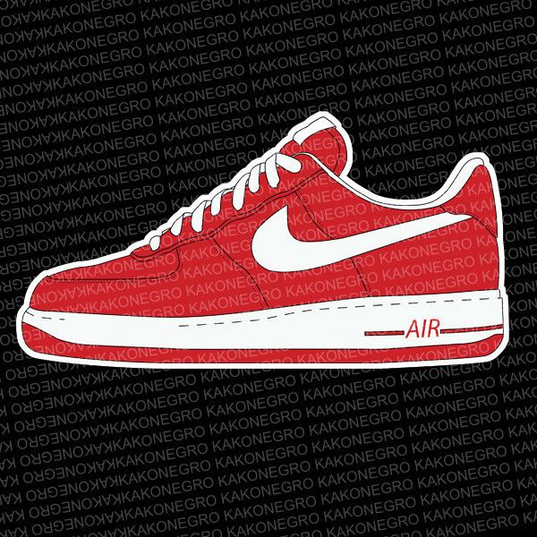 Nike Wallpaper 3d Nike Air Force Sneaker Sticker Car Stickers Or On