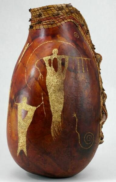 *Gourd Art by Judy Richie, Red Cloud Originals Member Texas Gourd Society