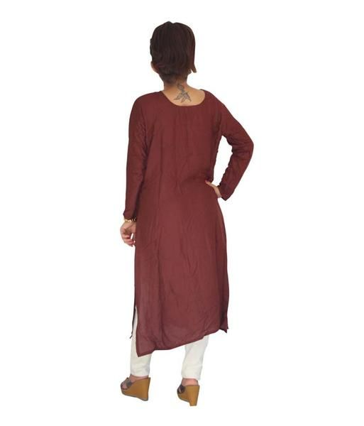 LadyIndia.com # Daily Wear Kurti, Garg Fashion Daily Wear Brown Designer Cotton Stitched Kurti, Stitched Kurti, Kurtas, Daily Wear Kurti, Designer Kurti, https://ladyindia.com/collections/ethnic-wear/products/garg-fashion-daily-wear-brown-designer-cotton-stitched-kurti