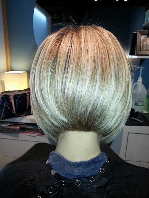 sleek angled bob back connected - Google Search