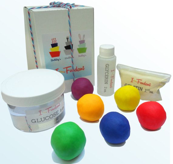Rolled Fondant Icing Kit -Glucose - Glycerin - UnFlavored Gelatin - Rolled Fondant Ingredients (makes 5 lbs rolled fondant icing)