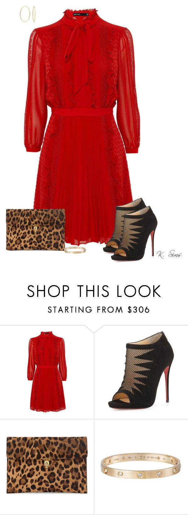 """Vintage meets modern"" by ksims-1 ❤ liked on Polyvore featuring Christian Louboutin, Alexander McQueen, Cartier, Bling Jewelry, modern and vintage"