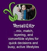 12 reasons why Peekaboo Beans is different from other kids clothing brands.  REASON #11 - VERSATILITY