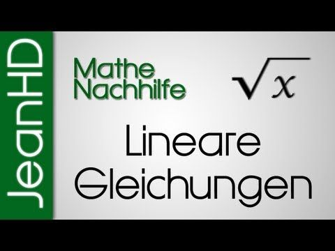 Tutorial, Lineare Gleichungssysteme grafisch lösen - YouTube