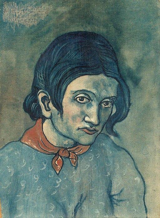 Пикассо, Пабло - Голова женщины. часть 9 Эрмитаж