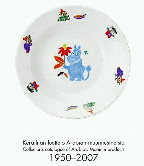 moomin plate 1950's -femtiotalsjakten -