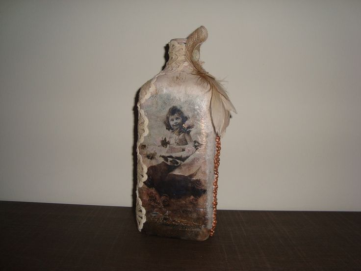 Bottle decoupage