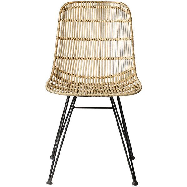 Bloomingville Darling Rattan Chair - Natural ($410) ❤ liked on Polyvore featuring home, furniture, chairs, accent chairs, neutral, woven rattan chair, outside chairs, woven outdoor furniture, outdoor chairs e outside furniture