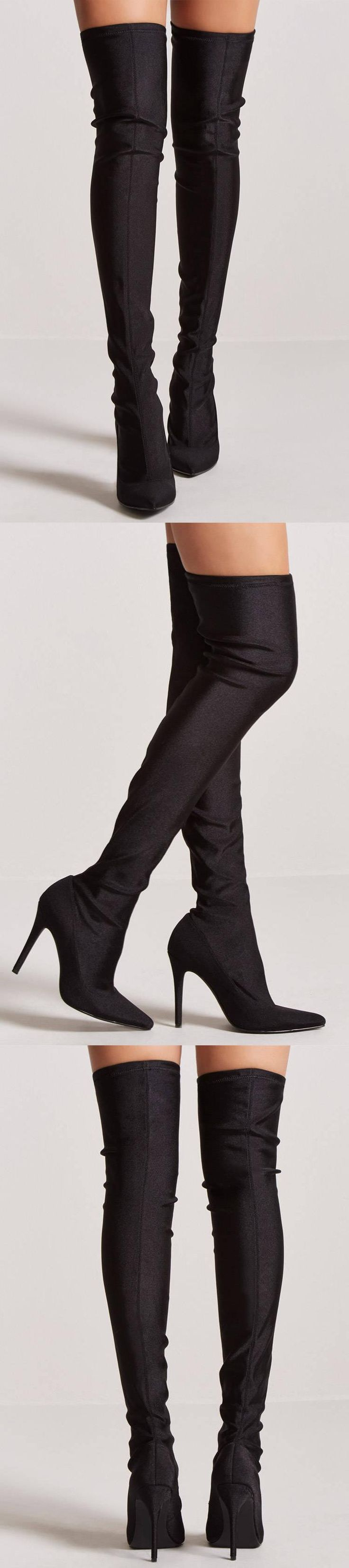 Over-the-Knee Sock Boots // 44.90 USD // Forever 21