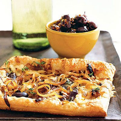 Caramelized-Onion and Gruyère Tarts  - Delish.com