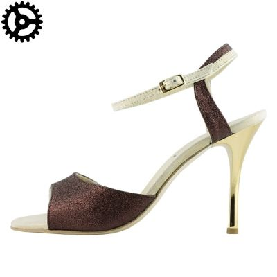 Tango shoes for women in chocolate glitter fabric at only 119 instead of 140€!