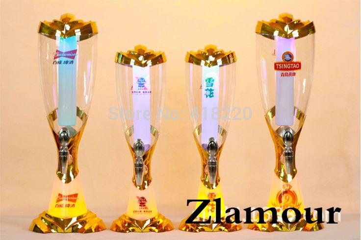 2017  Gold new version beer tower V12  beer dispenser cerveja torre distribuidor  led light  bar beer can print logo 1.5L